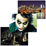 GREAT ART 3er Set XXL Poster – Joker in der Stadt –