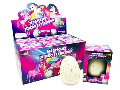 JustRean Toys XXL Einhorn Schlüpf Ei 11cm im Karton Kunststoffhülle - Magic Growing Egg Unicorn Schlüpfei Einhörner <3
