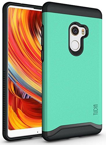 TUDIA Xiaomi Mi Mix 2 Funda, Caja Protectora Merge Tarea Pesada Protección Extreme de Doble Capa para Xiaomi Mi Mix 2 (Menta)