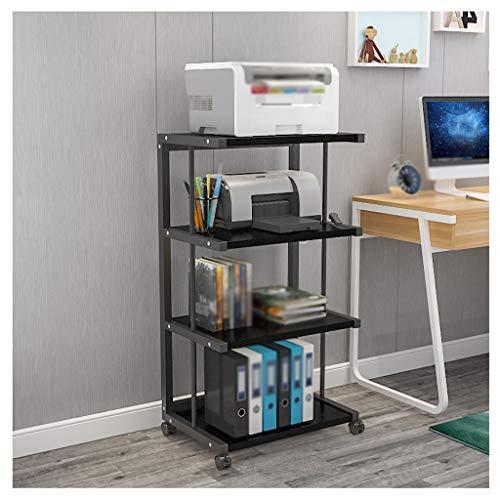 Soporte para Impresora Estante de la trituradora de papel de la copiadora fija del soporte del pie fijo de 4 capas del pie, usado para la sala de estar de la sala de estar de la oficina. Organizador d