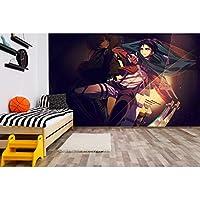 壁紙 リメイクシートはがせる壁紙 ウォールステッカー 壁紙 リフォーム 壁紙 シール寮の森の壁紙、家の壁紙の粘着性、寝室の背景の壁-ディープレイクブルー_60cm * 10m