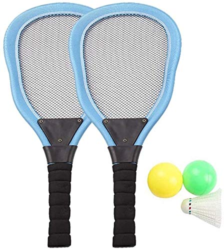 RENFEIYUAN 1 Set Kinder Kunststoff Badminton Tennis Set mit Schlägern Bälle Shuttlecock Tennis Schläger Spiel Spiel Strand Spielzeug Für Kinder Kinder Kleinkinder (rot) Badminton Sets (Color : Blue)