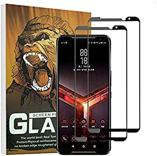 (2 Pack) Elf Cat Full Glue Screen Protector 0.33mm 9H 2.5D Silk Print Tempered Glass Film for Asus ROG Phone II (Asus ROG ...