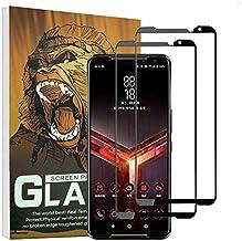(2 Pack) Elf Cat Full Glue Screen Protector 0.33mm 9H 2.5D Silk Print Tempered Glass Film for Asus ROG Phone II (Asus ROG Phone II)