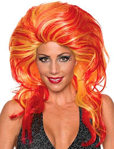 Rubie's Women's Helen wheels Wig, Red/Orange, One Size