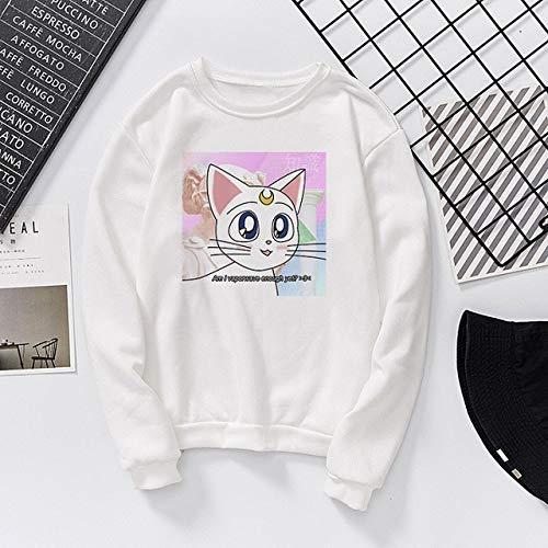 New Winter Sweatshirt Harajuku Cute Print Casual Fun Long Sleeve Loose Large Size Fashion Ulzzang Tops Sweatshirt L 2