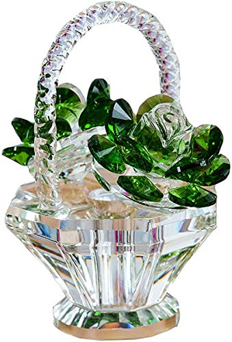 MLL Estatua, Regalo de Flor de Rosa de Cristal de Estatua, decoración de Escultura de estatuilla de Cristal, Adornos de Centro de Mesa de Boda, Regalo rótico