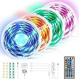 BIMONK LED Streifen RGB 20M, 300 RGB 5050 LED Strip Wasserdicht mit Fernbedienung & APP-Steuerung, LED Bänder für TV Schreibtisch Schrank Wand Treppen Schlafzimmer DIY Dekoration