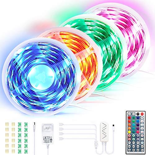 BIMONK LED Streifen Lichter 20M, 300 RGB 5050 LED Strip Wasserdicht mit Fernbedienung & APP-Steuerung, LED Bänder für TV Schreibtisch Schrank Wand Treppen Schlafzimmer DIY Dekoration
