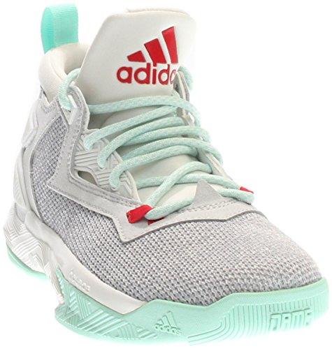 Adidas D Lillard 2.0 White/Mint Green Red Size 5.5 US