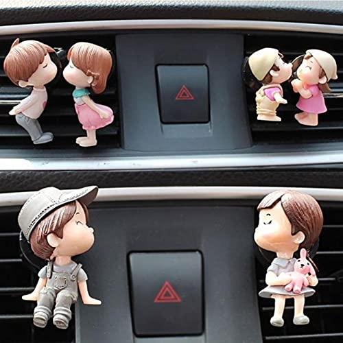 YPHBPF Carino coppia ragazza ragazzo auto ventilazione fresca verdura profumo clip aromatico diffusore decorazione