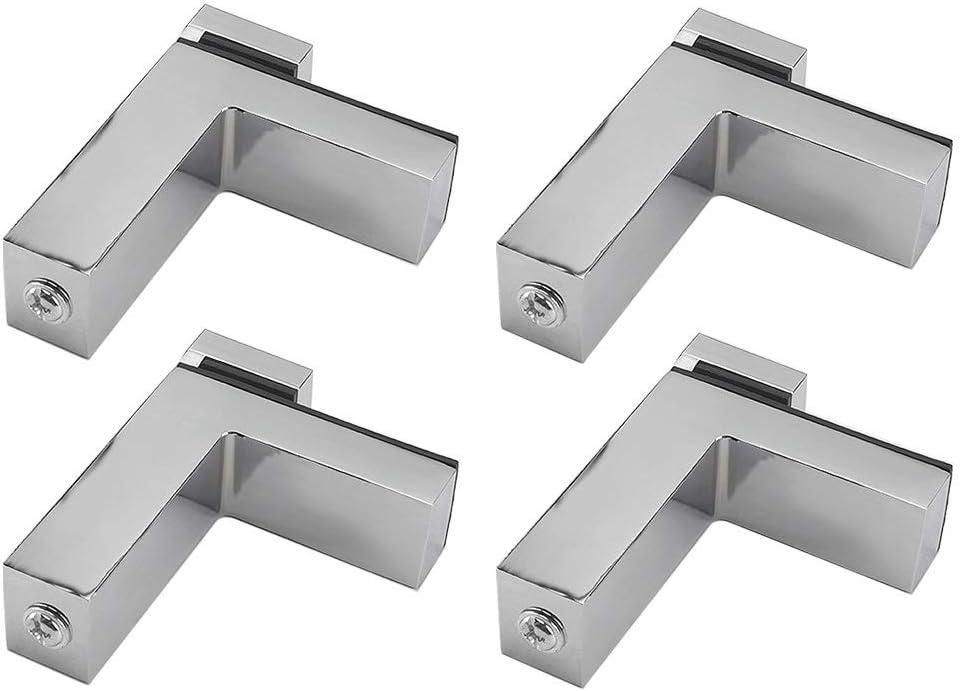 CVERY Staffa regolabile per mensole in legno//vetro supporto da parete per mensola da bagno in lega di zinco da 4 a 30 mm di spessore F