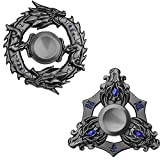 Anzmtosn Dragon Fidget Spinners Metal Fidgets Handheld Toys Set Hand Spinner Party Favors Spiral Twister Finger Fingertip Gyro Stress Relief Cube Fun ADHD EDC Toy Xmas Gifts for Kids Adults(2PCS)