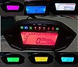 SAMDO LCD Universal Motorcycle Speedometer Gauge Odometer 5 Gear 7 Backlight 13000 RPM 199 KMH MPH Motorcycle Tachometer
