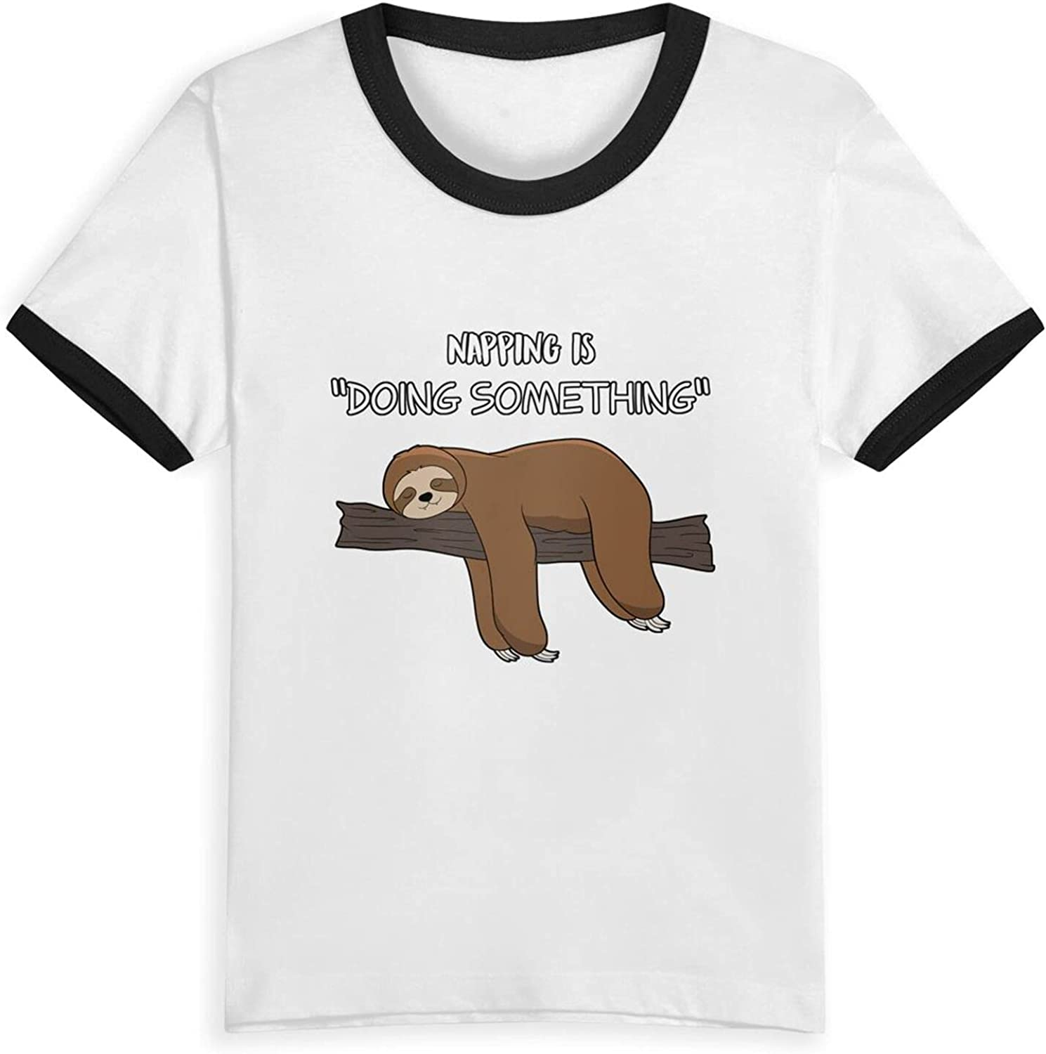 Napping is Doing Something T-Shirts Novelty for Kids Tees with Cool Designs