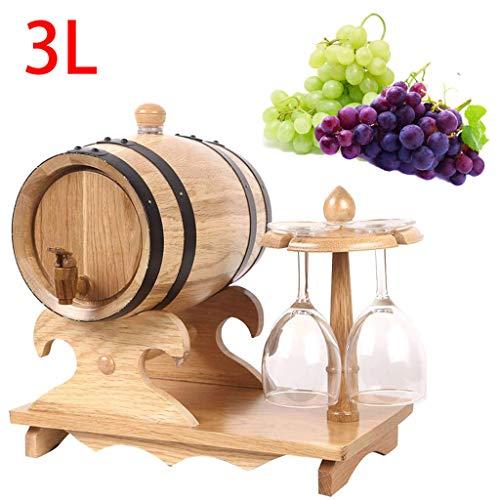 RHSMP 3L wijn vat hout eiken hout wijn vat Dispenser voor bier Whiskey Rum Port wijn maken vat Whiskey vat