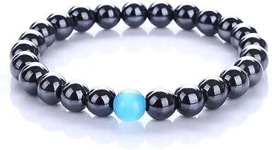 Cat Eye Jewels Healing Energy Beaded Bracelet Magnetic Hematite Lava Rock Chakra Bead Black Agate Beads Macrame Bracelets for Men Women