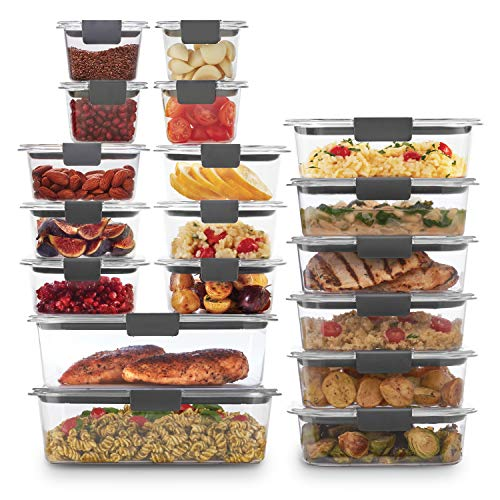 Rubbermaid Brilliance Storage 44-Piece Plastic Lids | BPA Free, Leak Proof Food Container, Clear