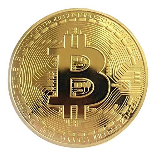 FinukGo Golden / Silber Bitcoin Münze Bronze Physische Bitcoins Münze Sammlerstück BTC Coin Art Collection Physisches Weihnachtsdekorationsgeschenk - Golden