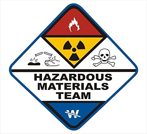 Evan Decals Firefighter Hazmat Team Window Decal Vinyl Sticker 4'