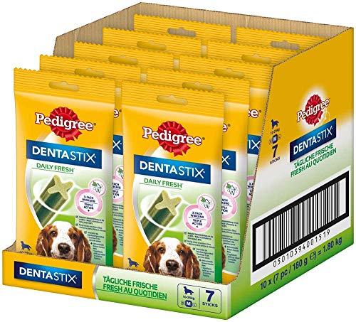 PEDIGREE Denta Stix Daily Fresh - Für mittelgroße Hunde 10-25kg (7 Stück) 180 g