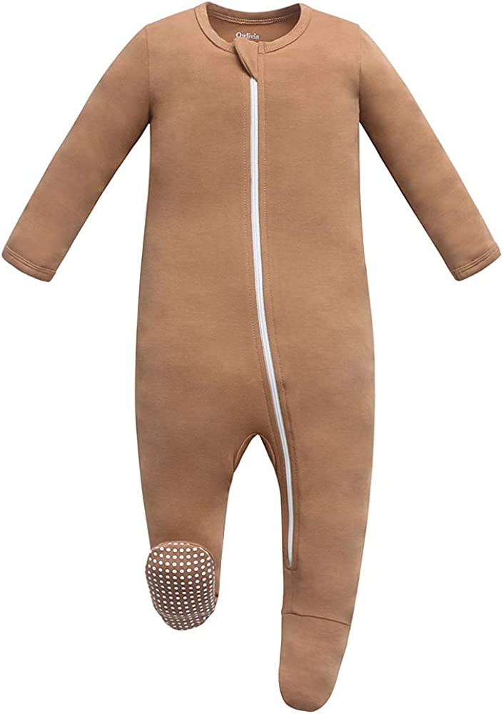 Owlivia Baby Boy Girl Fixed price for sale Sleep 'N Front Footed Zip Ultra-Cheap Deals S Non-Slip Play