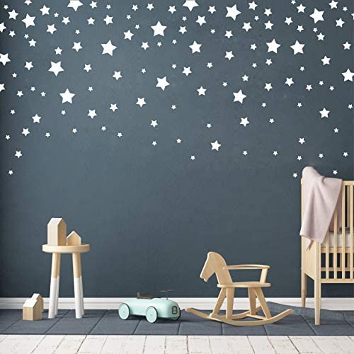 190 Picees Star Wall Decals Matte Vinyl Wall Decals Nursery Wall Decals Easy to use Removable product image