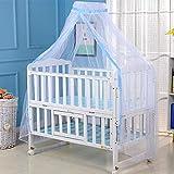Mosquitera para Cama de Bebé, Digead Cama de Niño Bebé Dosel Con Soporte de Cama de Abrazadera Ajustable, Adecuado para Cuna, 160 * 450 cm (blanco)