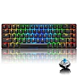 60% True Mechanical Gaming Keyboard Type C Wired 68 Keys LED Backlit USB
