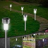 5 Stück Solarleuchte Garten, Vivibel Solar Gartenleuchte IP65 wasserdichte, Solarlampen für Garten Dekoration Licht, Energiesparende Ideal für Terrasse, Rasen, Garten Hofwege und Wege