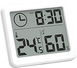 Termómetro Higrometro Digital KKmoon LCD Digital Termómetro interior Higrómetro Termohigrómetro de Interior Temperatura ambiente Medidor de humedad Medidor Termómetro doméstico Higrómetro interior