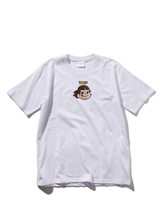 SPINNS ペコちゃん刺繍Tシャツ