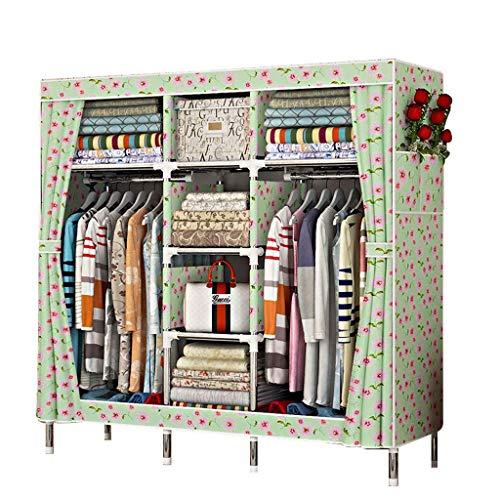 JFFFFWI Armario Simple armazón de Acero Inoxidable 168 * 45 * 170 armarios de Tela Oxford ensamblados (Color: C)