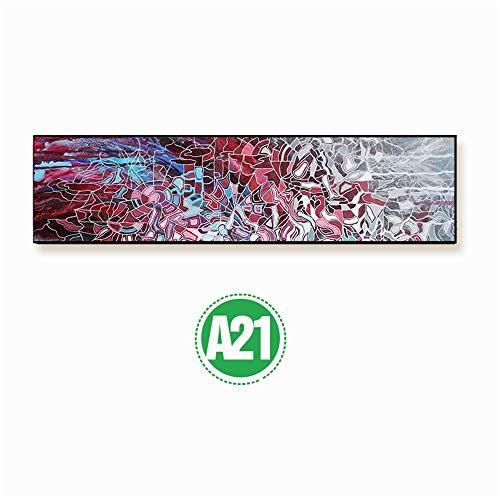 WSNDG Micro spuit banner frame slaapkamer nachtkastje abstract canvas schilderij zonder fotolijst 50x180cmx1 21c
