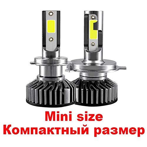 Hxfang Mini Canbus Lampada H4 H7 LED Faro De Coche 16000LM 4300K 6000K 8000K Lámpara H1 9005 HB3 9006 HB4 H8 H9 H1 H11 FOG Bulbs Ahora caliente ( Color : 5000K , Emitting Color : K10Ex mini size )
