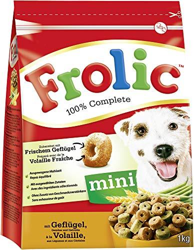 Frolic Hundefutter Trockenfutter mit Geflügel, Gemüse und Getreide, 6 Beutel (6 x 1kg)