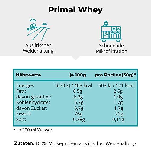 PRIMAL WHEY Protein Pulver (100% reines Molkeprotein von Weidetieren) – 903g - 2