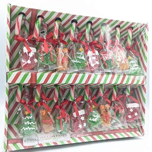 Baytrade Lot de 16 décorations en sucre d'orge avec bonbons en gelée, pour sapin de Noël