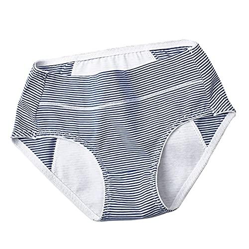 3 Piezas Algodón Ropa Interior Femenina Período Menstrual Bragas A Prueba de Fugas De 3 Capas No Desvanecerse Respirable Alta Elasticidad Super Suave (Color : Style2, Size : XL)