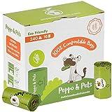 Peppo and Pets- 240 Bolsas Caca Perro -16 Rollos - Compostables - Fabricadas con almidón de maíz- Certificación ASTM D6400- Olor a Lavanda- Muy Resistentes- A Prueba de Fugas