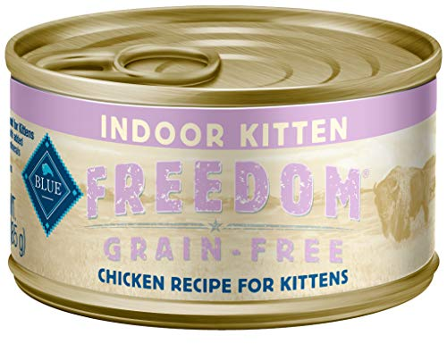 Blue Buffalo Freedom Grain Free Indoor Chicken Recipe Pate Wet Kitten Food