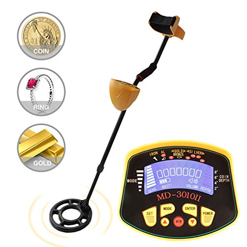 SUNCOO Adjustable Metal Detector for Kids Adults Waterproof Search Coil Treasure Hunter 2 Modes High Accuracy Metal Finder Silver and Gold Digger Detectors Metal