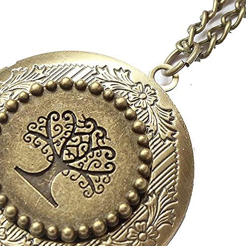 chaosong shop Locket - Medallón de árbol de la vida con medallón para árbol genealógico