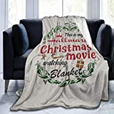 FAITH MORLEY This is My Chirstmas Movie Wtaching Blanket Soft and Comfortable Thin Warm Global Blanket Printing Velvet Blanket/Blanket/Blanket Anti-Pilling