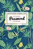 Internet Password Logbook: Keep your Passwords Organized in Style   Password Logbook, Password Keeper, Online Organizer Cactus Design: Volume 1 (Password Vault)