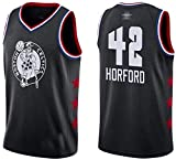NBA Men's Basketball Jersey Boston Celtics 42# Al Horford Clásico Sin Mangas Chaleco de Baloncesto Camiseta Transpirable Moda Masculina (Size : Large)