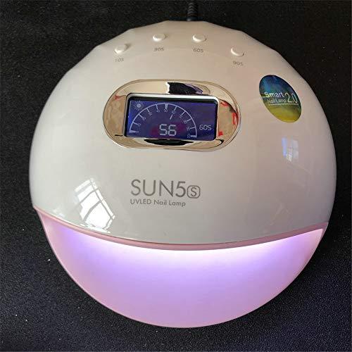 ZYC Lámpara UV LED de 72 W para secar uñas de gel, máquina con 32 lámparas UV