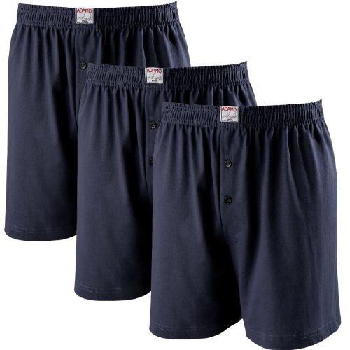 ADAMO Boxershorts James | Herren Boxershorts I Männer Shorts | Boxershorts Men | Shorts Herren I Herrenunterwäsche I 100{b797eb46e46a419b37fa83a17de5c63bfdb3f779da95aa2caf55b939d0dd8d53} Baumwolle 3er Pack in dunkelblau Übergrößen 8-20 / XXL-8XL, Größe:16