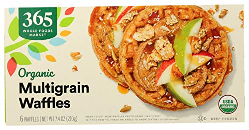365 by Whole Foods Market, Frozen Organic Pancakes, Multigrain (6 Waffles), 7.4 Ounce