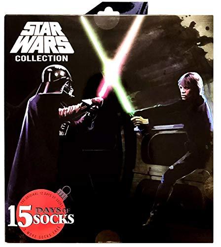 Men's Star Wars 15 Days of Socks Luke vs Darth - Colors May Vary 6-12